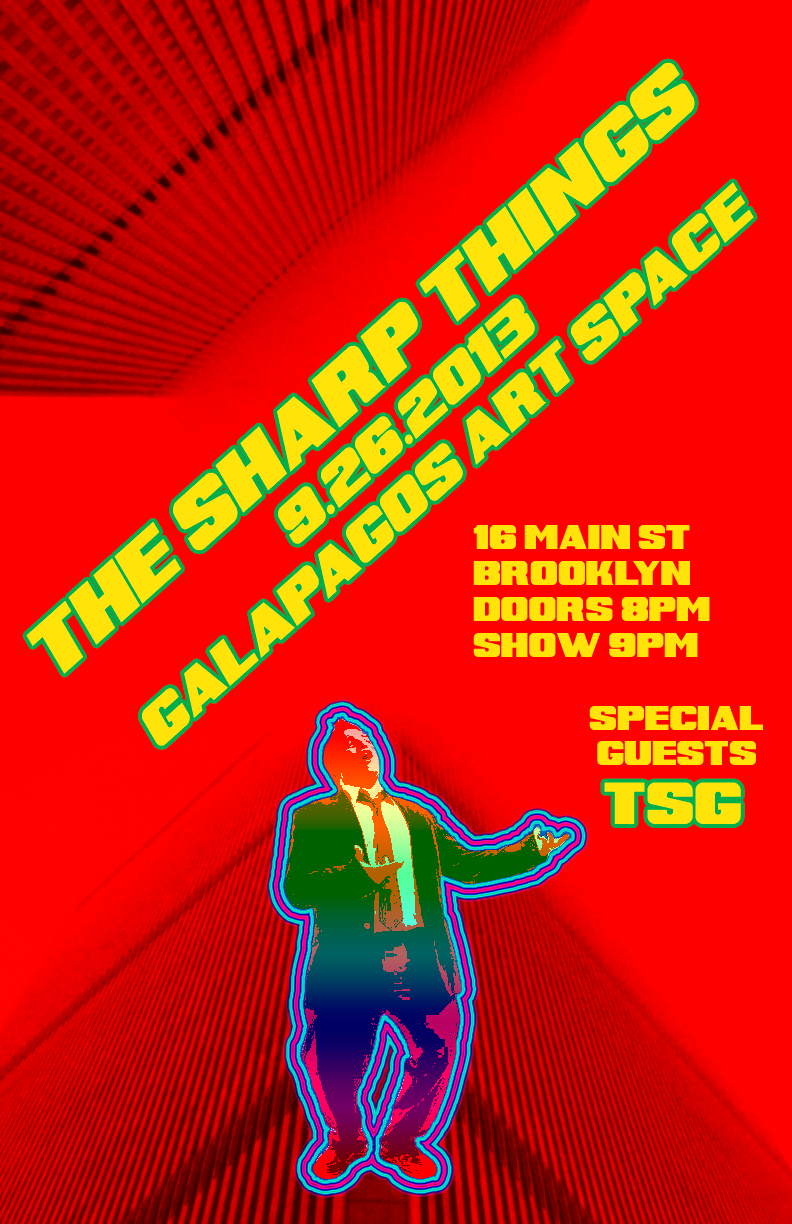 The Sharp Things Concert at Galapagos Art Space, 9/26/13