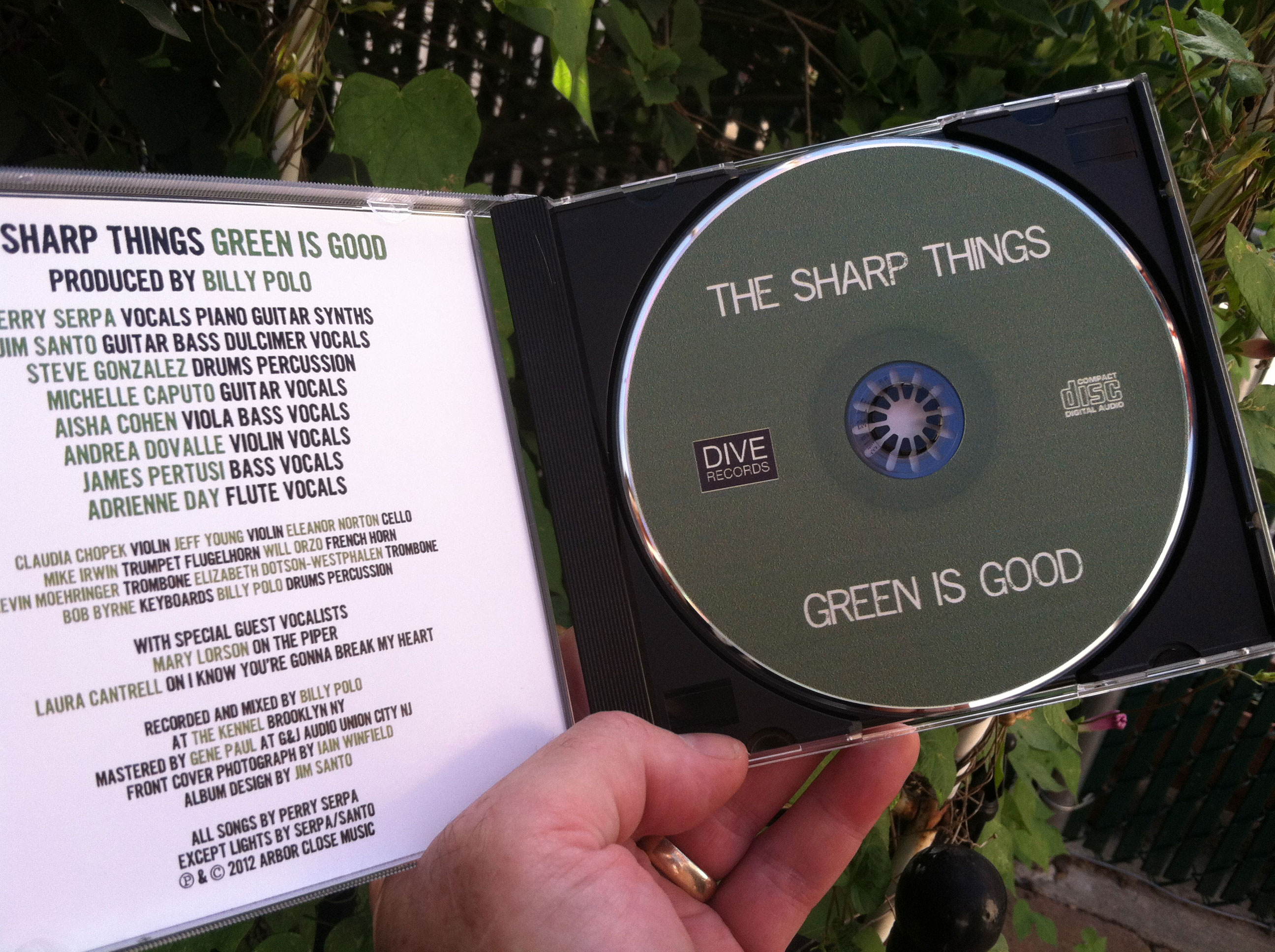 The Green Is Good CD inside